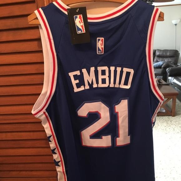 huge discount b20ac 24575 Joel Embiid Philadelphia 76ers Jersey L/XL Sixers NWT